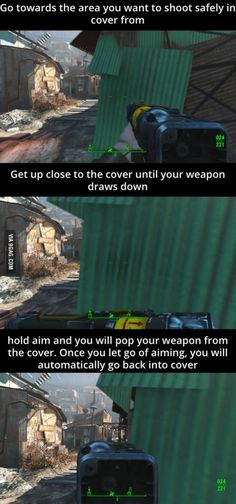 You can fire from cover in Fallout 4