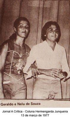 Geraldo e Nelu Souza. Coluna Hermengarda Junqueira do A Crítica de 13 de março de 1977