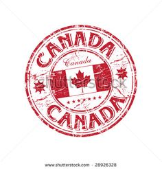 stock vector : Red grunge rubber stamp with the canadian flag and the name of Canada written inside the stamp Visit Canada, O Canada, Compass Drawing, I Am Canadian, Symbols And Meanings, Passport Stamps, Canada Images, Travel Logo, Vancouver