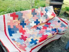 Dream Big Quilt.  Fabrices: Rue Indienne by French General for Moda and Stoff&Stil fabric.  Pattern by Camille Roskelley. Made by me.