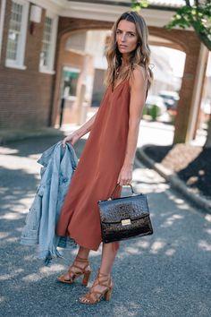 Cuyana silk slip dress/ fall fashion to wear now