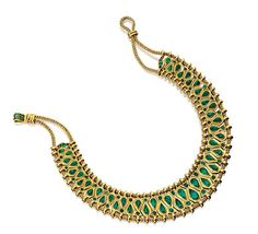 GOLD AND EMERALD 'HINDOU' NECKLACE, RENÉ BOIVIN, 1950S