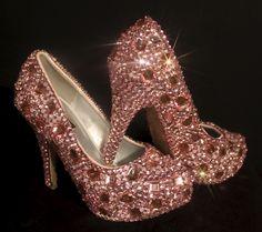 Swarovski Element Pink Ice Crystal Closed Toe Shoes