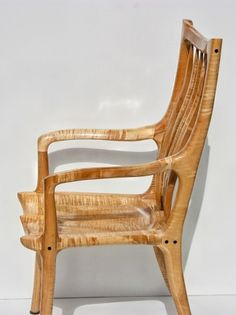 Maloof-style desk chair by Ian Grunder