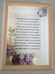 Z okazji przejścia na emeryturę Frame, Aga, Gifts, Handmade, Humor, Home Decor, Polish Sayings, Homemade Home Decor, Presents