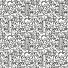 Eco Wallpaper Rosegarden White & Black  Wallpaper main image