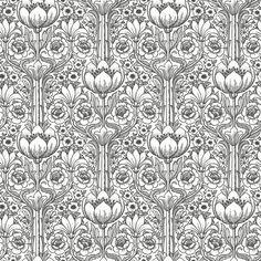 Rosegarden White & Black  wallpaper by Eco Wallpaper