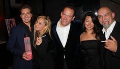 Adrienne Maloof, Jacob Busch, Jason Cardiff, Csaba Fikker with Cigirex and Zing at LA Fashion Mag Oct Issue Party The Thompson in Beverly Hills