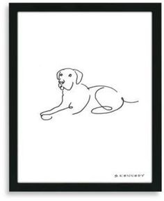 Bed Bath & Beyond Framed Labrador Retriever Line Drawing. Display your love of dogs with the simple, elegant framed Lab line drawing. It displays the iconic characteristics of the Labrador retriever with few lines. Perro Labrador Retriever, Red Labrador, Chocolate Labrador Retriever, Retriever Puppy, Labrador Quotes, Dog Drawing Simple, Dog Line Drawing, Dog Tattoos, Dog Art