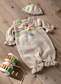 *Free Crochet Pattern:  Marshmallow Cotton Coverall