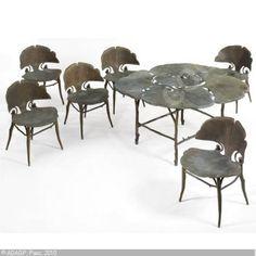 Ginko table and chairs Unique Furniture, Dining Furniture, Furniture Design, Chair Design, Dining Rooms, Art Nouveau Design, Contemporary Interior, Interior Design, Beautiful