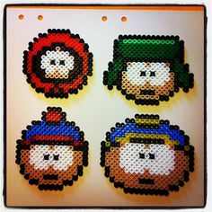 South Park characters perler beads by beckayfrecky This would make a great cross stitch.
