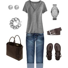 A fashion look from March 2012 featuring Old Navy t-shirts, YMI and Abercrombie & Fitch flip flops. Browse and shop related looks.
