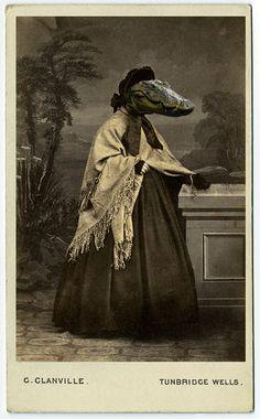 Whats up! trouvaillesdujour: Charlotte Corys Cartes-de-visite; A Reinterpretation of Victorian photographic calling cards
