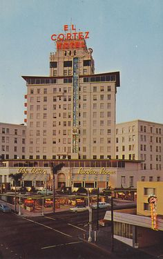 "El Cortez Hotel in San Diego, which introduced the first ""Glass"" elevator to the U.S."