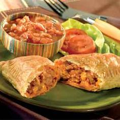 Pepperidge Farm® Puff Pastry - Recipe Detail - Taco Pockets: think this would be good with morningstar crumbles in place of hamburger. Could probably freeze the extras and then reheat them later like hotpockets.