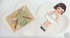 Valentine Paper Doll with clothing