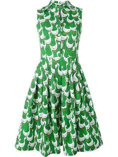 Ultràchic goose print flared shirt dress