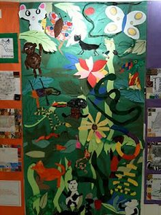 Pink and Green Mama: Art History: Henri Rousseau Jungle Collage Jungle Crafts, Jungle Art, Henri Rousseau, Henri Matisse, Montessori Art, Animal Art Projects, Collaborative Art, Art Programs, Naive Art