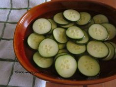 The Country Cook: Creamed Cucumbers and Vinegar & Onion Cucumbers