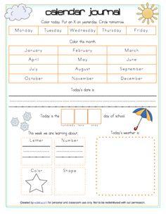 Free Printable Preschool Journal