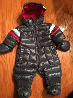 Canada Goose' Infant's Fur-Trim Down Snowsuit - Blue - Size 3-6 Months