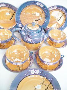 lusterware tea set   Lusterware cherry blossom tea set   Steeping   Pinterest