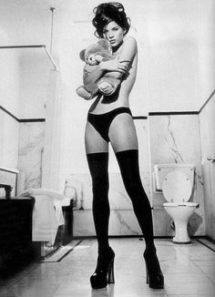 Kate Moss & The Misery Bear...loved this photograph I had it turned into my forearm tattoo