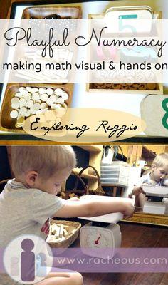 Racheous Lovable Learning - Playful Numeracy   Exploring Reggio