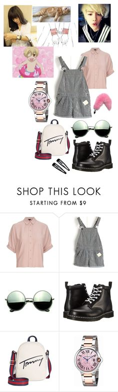 """""""luhan-exo"""" by chanbaek614 ❤ liked on Polyvore featuring Topshop, Revo, Dr. Martens, Tommy Hilfiger, Cartier, Datura and Clips"""