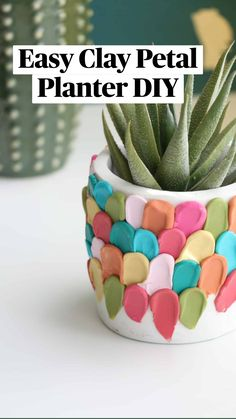 Crafts To Do, Diy Craft Projects, Crafts For Kids, Diy Crafts, Biscuit, Craft Night, Diy Planters, Creative Crafts, Pots