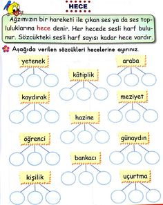 This post was discovered by se Turkish Lessons, Learn Turkish Language, Learning Arabic, Grade 1, Homework, Karma, Worksheets, Teacher, Math