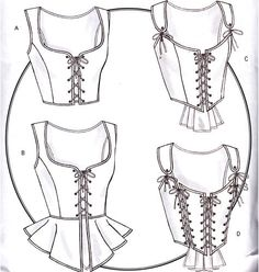 Historical-Costume-Corset-Pattern-B4669-NEW-14-16-18-20
