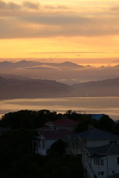 Sunrise over Wellington, New Zealand