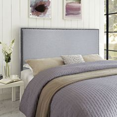 27 best Most Popular Headboards images on Pinterest   Upholstered     Modway Region Queen Nailhead Upholstered Headboard  Multiple Colors Image 5  of 5