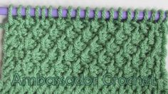 Tunisian Honeycomb Stitch Pattern