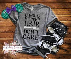 Dinglehopper Hair Don't Care Shirt Disney vacation