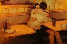 """Lovers"" "" — Title Unknown — "" by Joseph Lorusso Thanks to trychnineinthesoup for posting this image. (via nimuehariarani)"