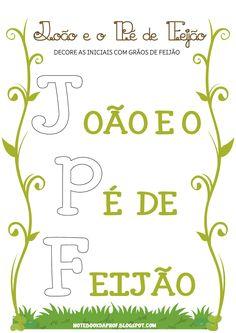 Notebook da Profª: Atividades João e o Pé de Feijão - Parte 3