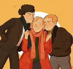 'Hoping that the first ep of S3 will have Sherlock and John being mad at each other while Mary tries to get them back in BFF status.', by inchells (17 dec 2013)