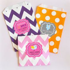 "Babies are Sweet Personalized Goodie Bags (set of 12). Want to provide your guests with sweet treats to celebrate your newest bundle of joy? Our ""Babies are Sweet"" Personalized Goodie Bags are the perfect way to garnish your delicious treats. From jelly beans to candy covered chocolates to homemade brownies and cookies, these goodie bags will make your delicious sweets look like they came packaged from a bakery! You can also lay them out at a candy buffet table for a decorative ""pack your…"
