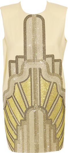 HOLLY FULTON   Short Sleeve Dress with Crystal Detailing... reminds me of the great gatsby for some reason