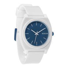 Nixon time teller watch white blue