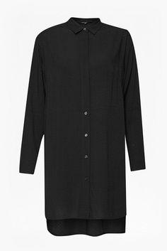 Embroidery Dot Longline Shirt