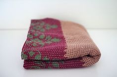 Vintage Kantha throw #1 by Bleecker Street Vintage