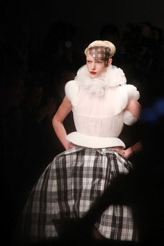 You might think that after McQueen's Highland Rape show, nobody would have the talent and courage to use tartan in a collection and have a s. London Fashion, Tartan, Mcqueen, British, Victorian, Vintage, Collection, Dresses, Style