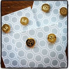 Monogram Earrings are our top pick Gift this Holiday. Monograms continue to be a fashion trend for 2014. Available in Gold and Silver