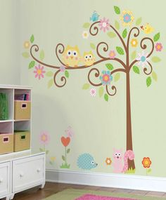 Owl Theme for Kids Bedroom Wall Decals
