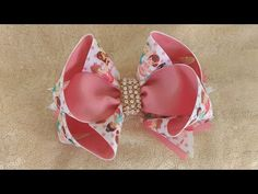 Diy Hair Bows, Diy Bow, Diy Ribbon, Ribbon Hair, Ribbon Crafts, Salwar Pants, Christmas Hair Bows, Hair Bow Tutorial, Bow Accessories