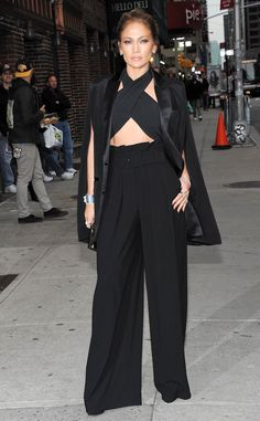 Does this woman EVER age? Jennifer Lopez looks ready for her David Letterman appearance.